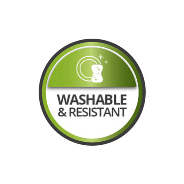 Washable and resistant