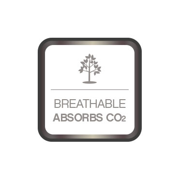 Breathable paint. Absorbs CO2