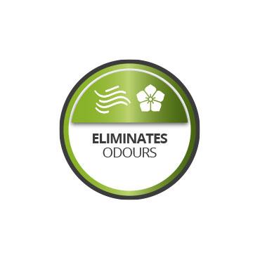 Eliminates odours