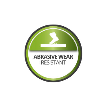 High elasticity and resistance to abrasion.