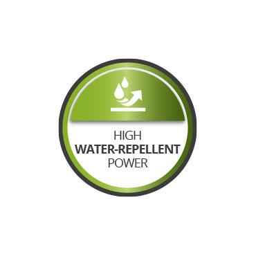 Excelente poder hidrorepelente