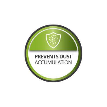 Prevents dust accumulation