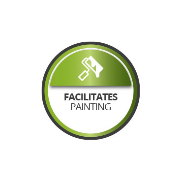 Facilitates the painting of walls