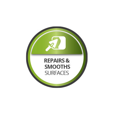 Repairs and smoothes surfaces