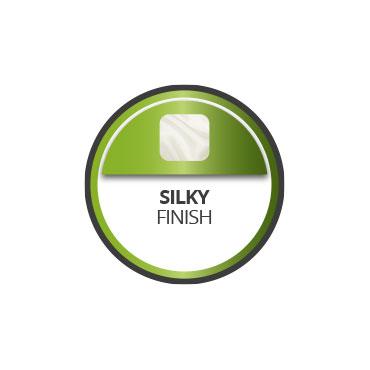Silky finish