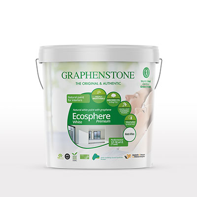 Ecological and natural paint with graphene