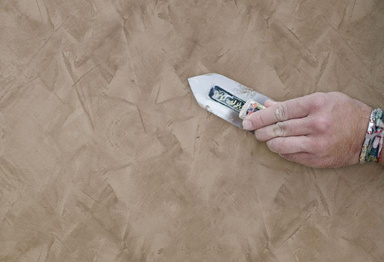 Marbling effect paint. Venetian stucco paint